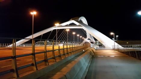 Bridge in Zaragoza at night